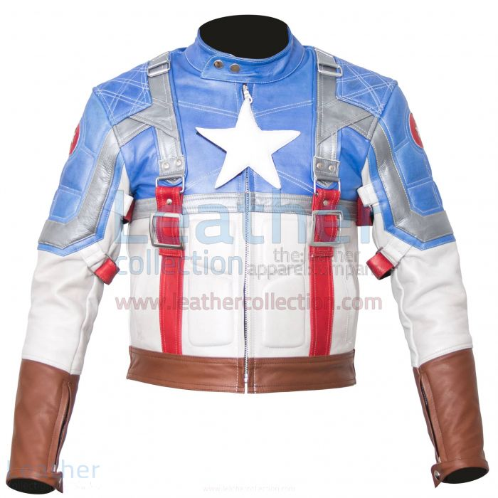 Captain America First Avenger Leather Jacket front view