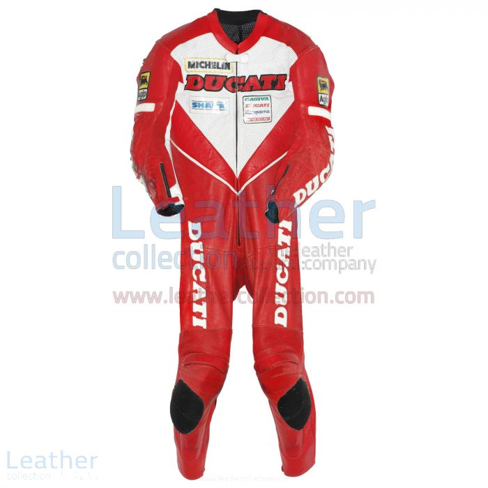 Carl Fogarty Leather Suit Ducati WSBK 1995 Front View