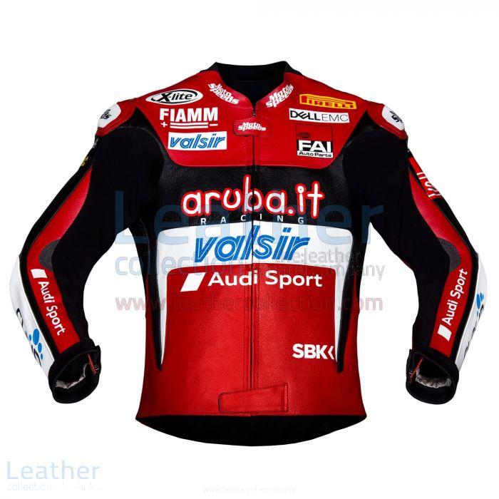 Chaz Davies Ducati Leather Jacket 2018 WSBK front view
