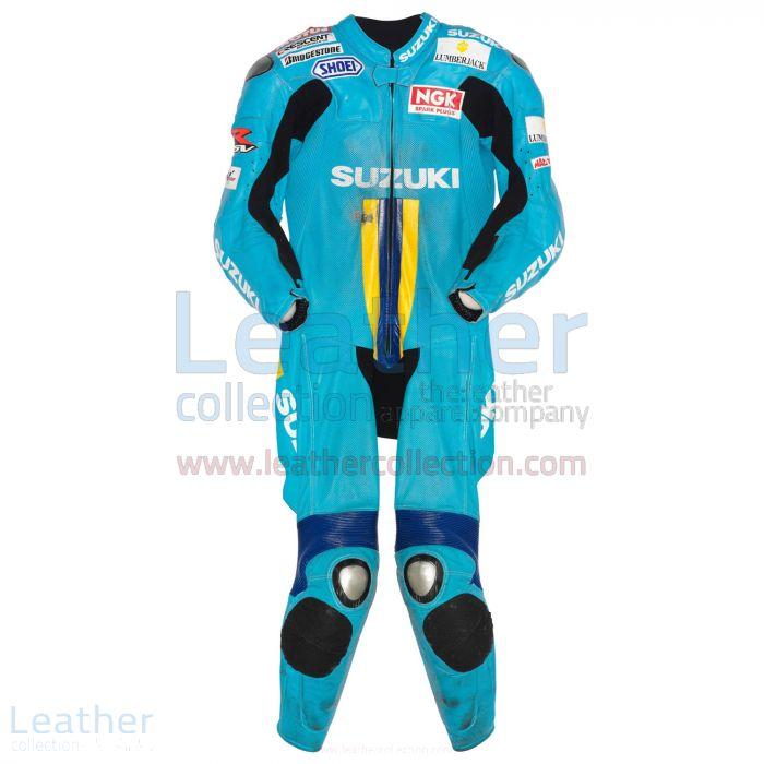 Chris Vermeulen Suzuki MotoGP 2007 Leather Suit front view