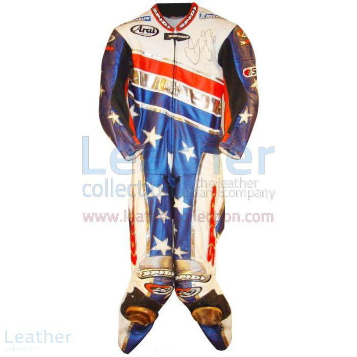 Colin Edwards Aprilia Leathers 2003 MotoGP Pre-season front view