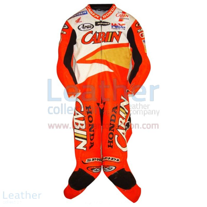 Colin Edwards Honda Leathers 2002 Suzuka 8 Hours front view
