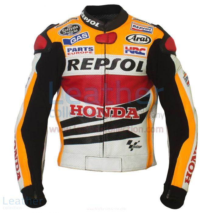 Dani Pedrosa Honda Repsol 2013 Motorcycle Jacket front view