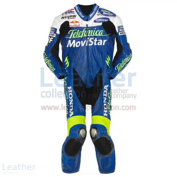 Dani Pedrosa Leather Suit Movistar Honda GP 2004 Front View