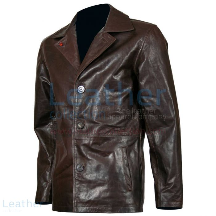 Dean Winchester Supernatural Leather Jacket Front View
