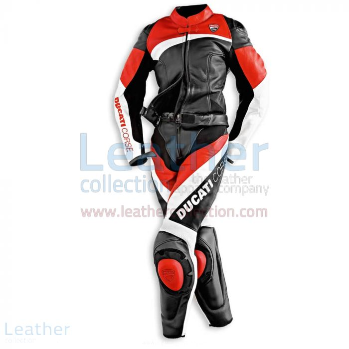 Ducati Corse Racing Leather Suit front