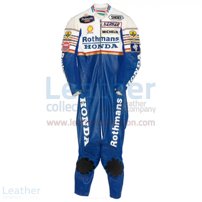 Eddie Lawson Rothmans honda GP 1989 Leathers front view