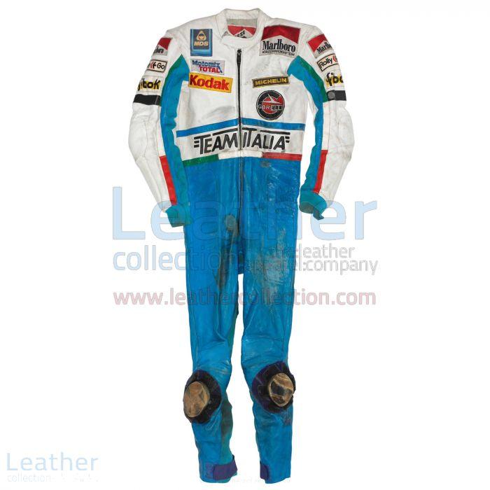 Fausto Gresini Garelli GP 1985 Racing suit front view