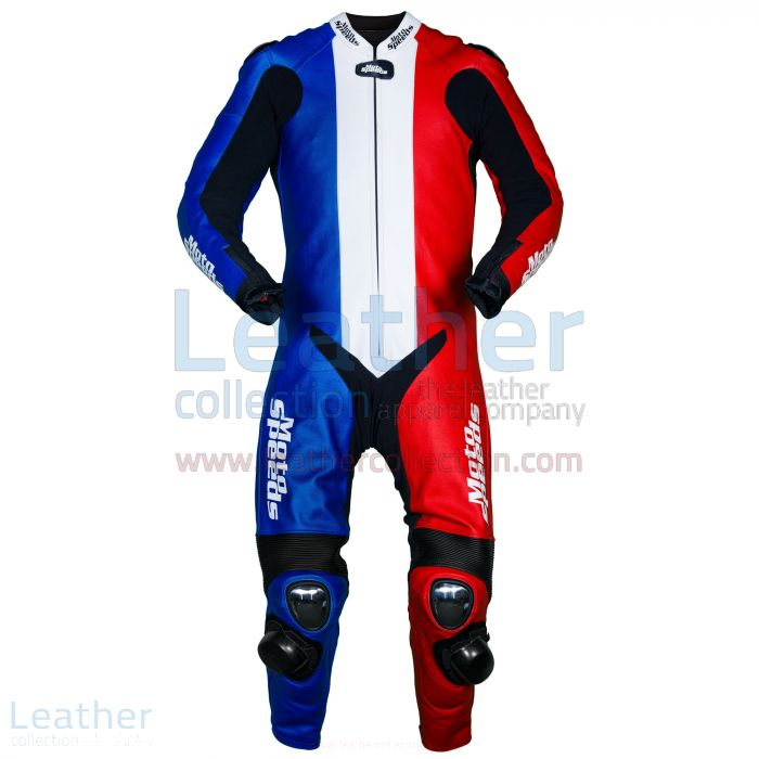 France Flag Race Leathers front view