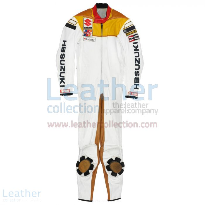 Franco Uncini Suzuki GP 1982 Leather Suit front