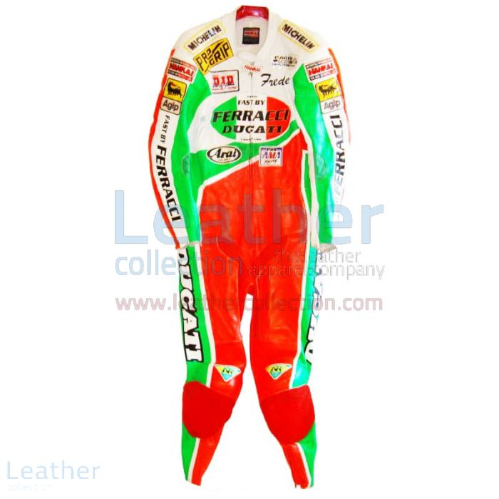 Freddie Spencer Ducati Corse AMA Leathers front view