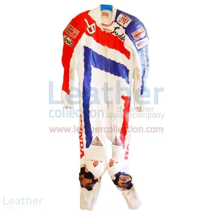 Freddie Spencer Honda Motorcycle AMA 1991 Leathers front