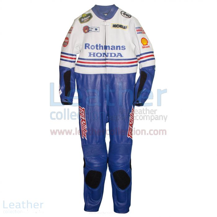 Freddie Spencer Rothmans Honda GP 1986 Leather Suit front view