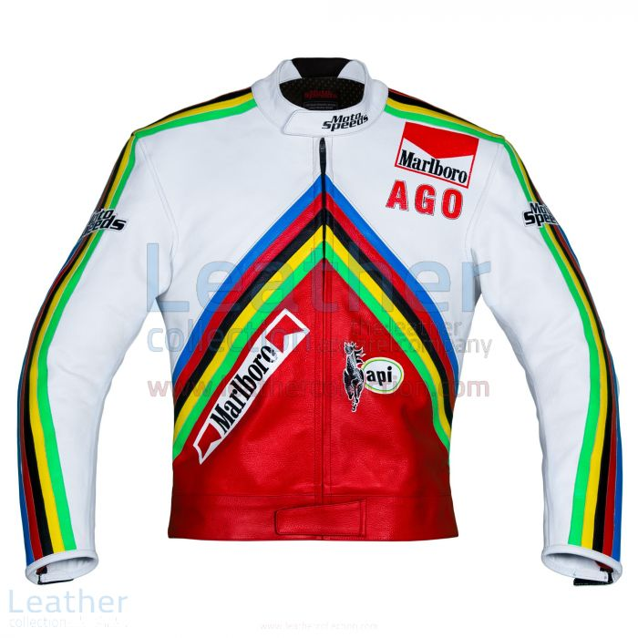 Giacomo Agostini MV Agusta GP 1975 Leather Jacket front