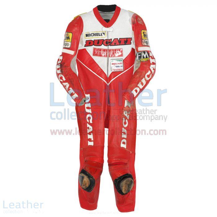 Giancarlo Falappa Leathers Ducati WSBK 1993 Front View