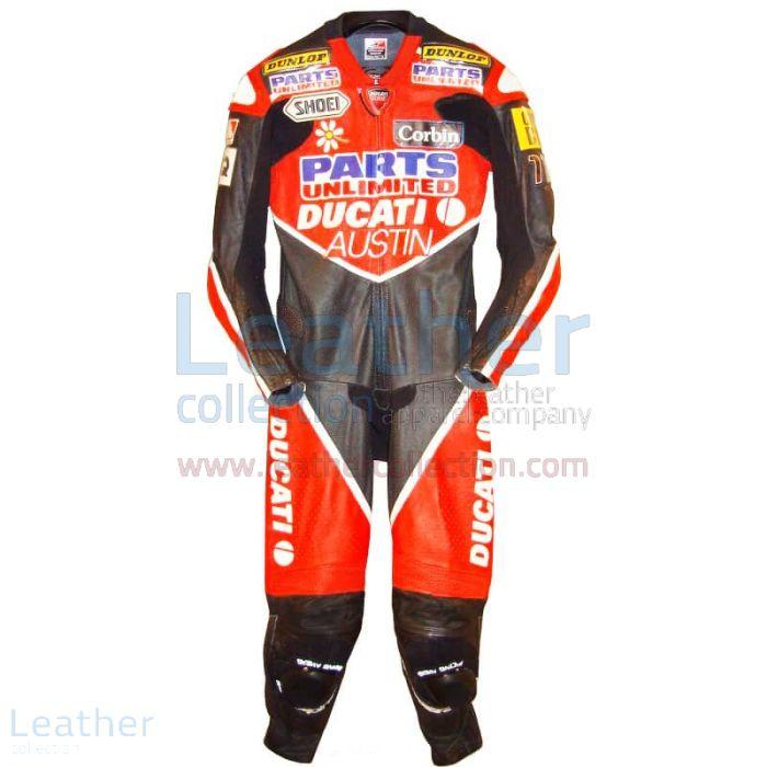Giovanni Bussei Ducati WSBK 2005 Leathers front view