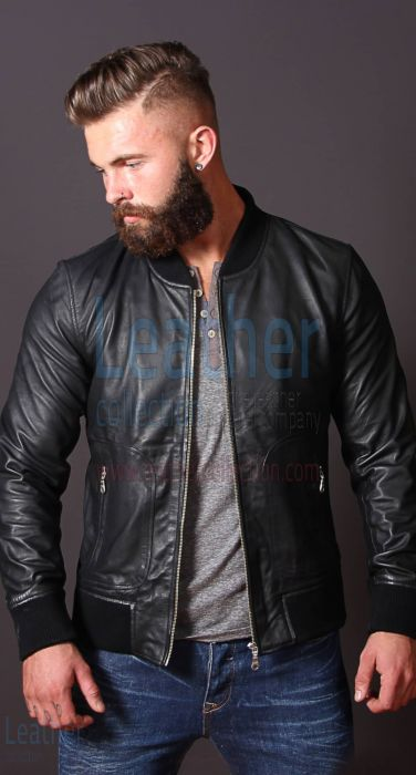 Heritage Leather Jacket For Men opened front view
