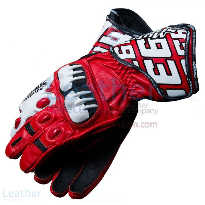 Honda Repsol 2013 Marquez Leather Gloves Both Views