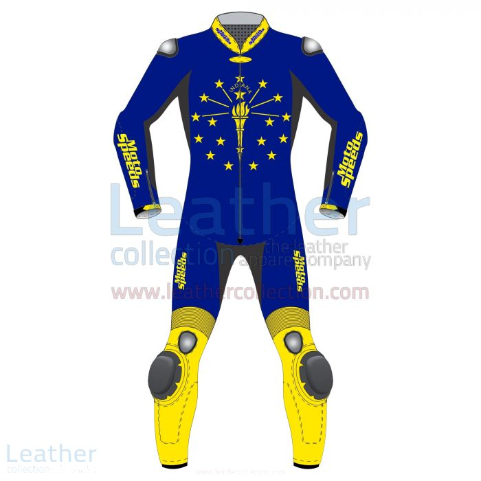 Indiana Flag Motorbike Racing Suit front view