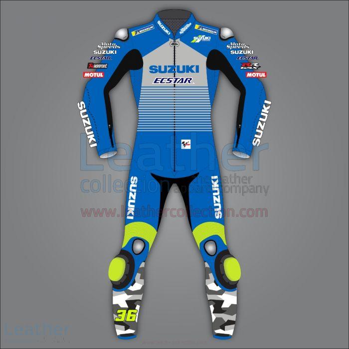 Joan Mir Suzuki Racing Leathers MotoGP 2020 front view