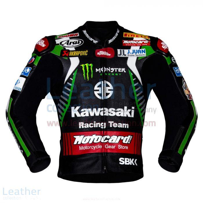 Jonathan Rea Kawasaki WSBK 2019 Racing Jacket front view