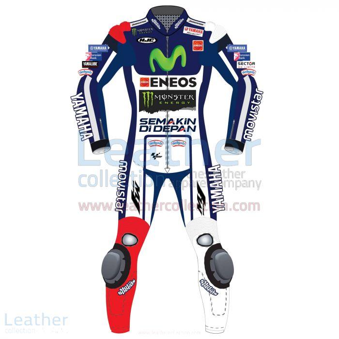 Jorge Lorenzo Movistar Yamaha MotoGP 2015 Leathers front view