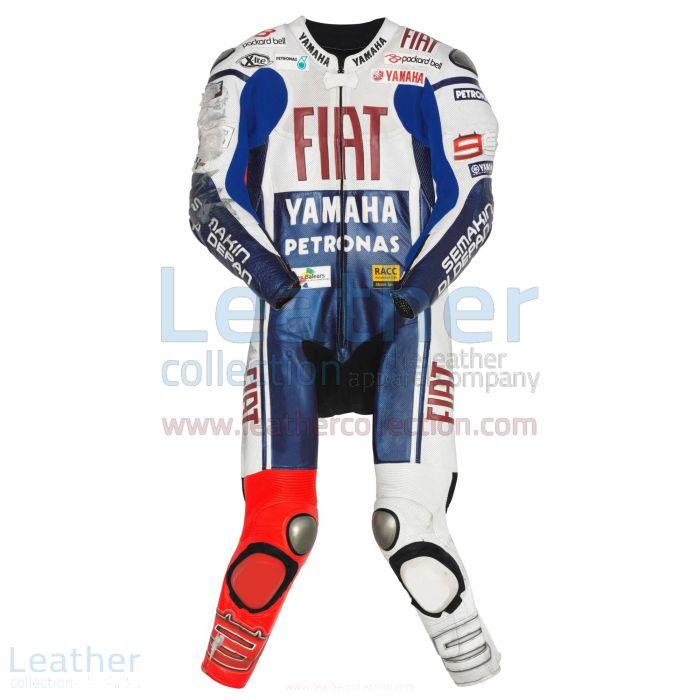 Jorge Lorenzo Yamaha Fiat MotoGP 2010 Leathers front view