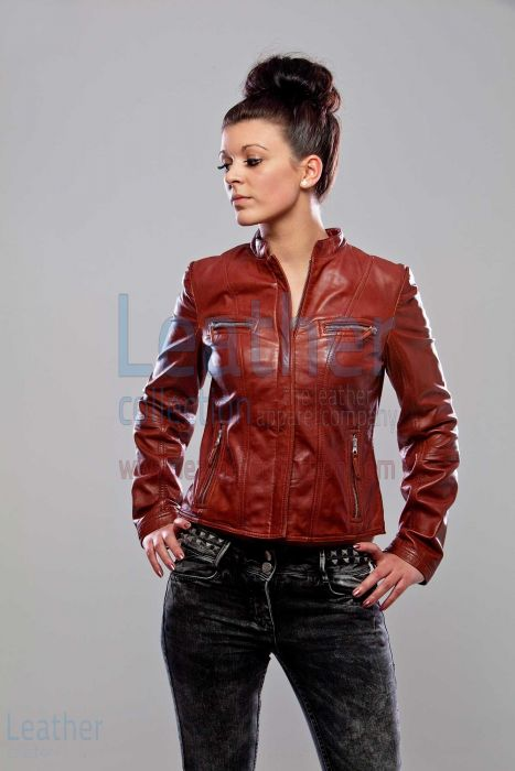 Karma Leather Jacket women front view