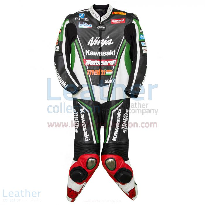 Kawasaki Ninja Tom Sykes 2013 Champion Leathers front view