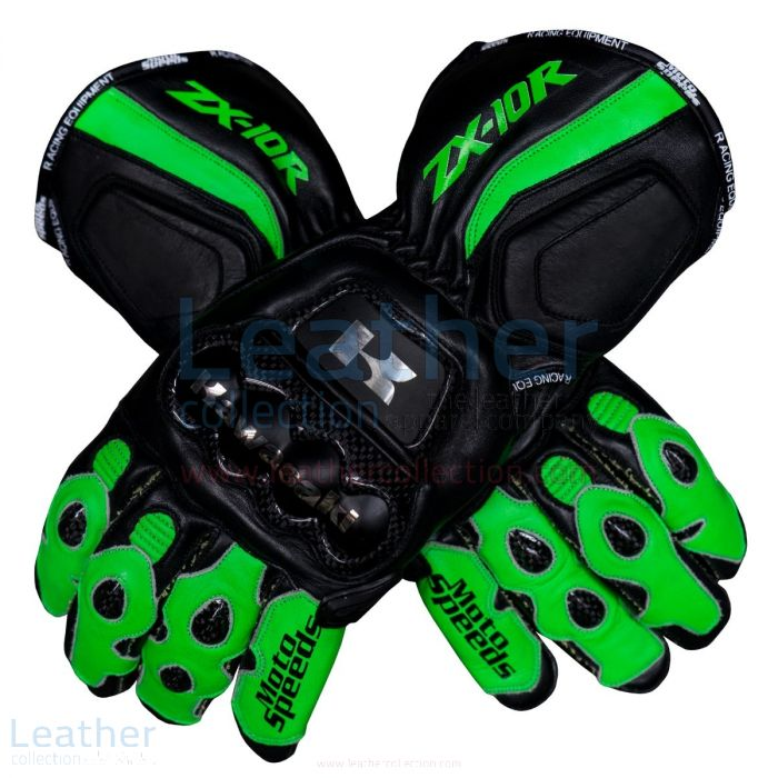 Kawasaki Ninja ZX-10R Motorcycle Gloves upper view
