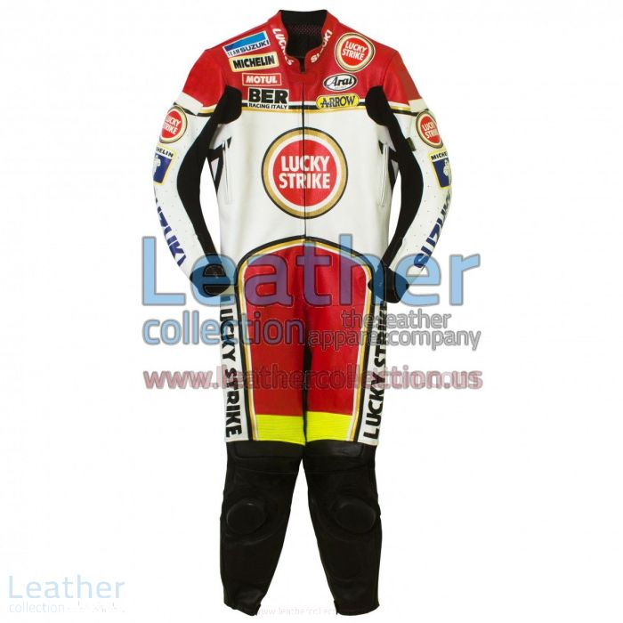 Kevin Schwantz Lucky Strike Suzuki GP 1993 Leathers side