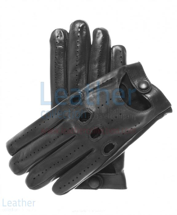 Lambskin Driving Gloves Black
