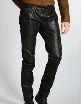 pantaloni di pelle di moda e Gambali