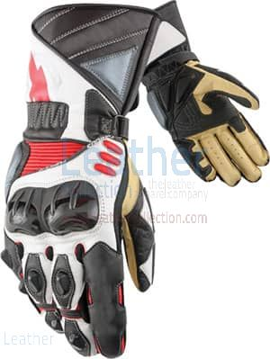 Legend Leather Biker Gloves Upper and Lower View