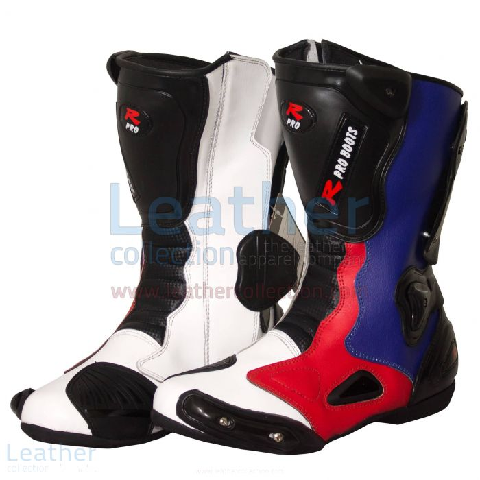 Leon Haslam BMW Motorcycle Boots side