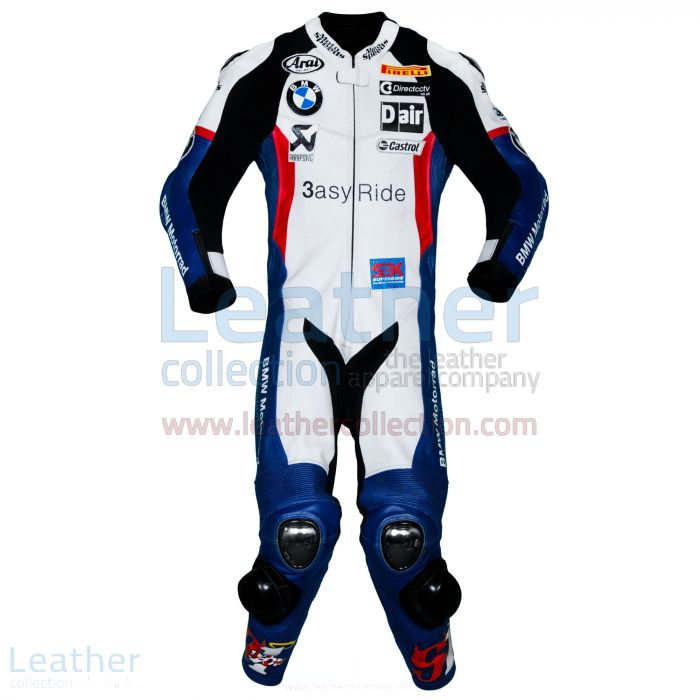 Leon Haslam BMW WSBK 2011 Leathers front view