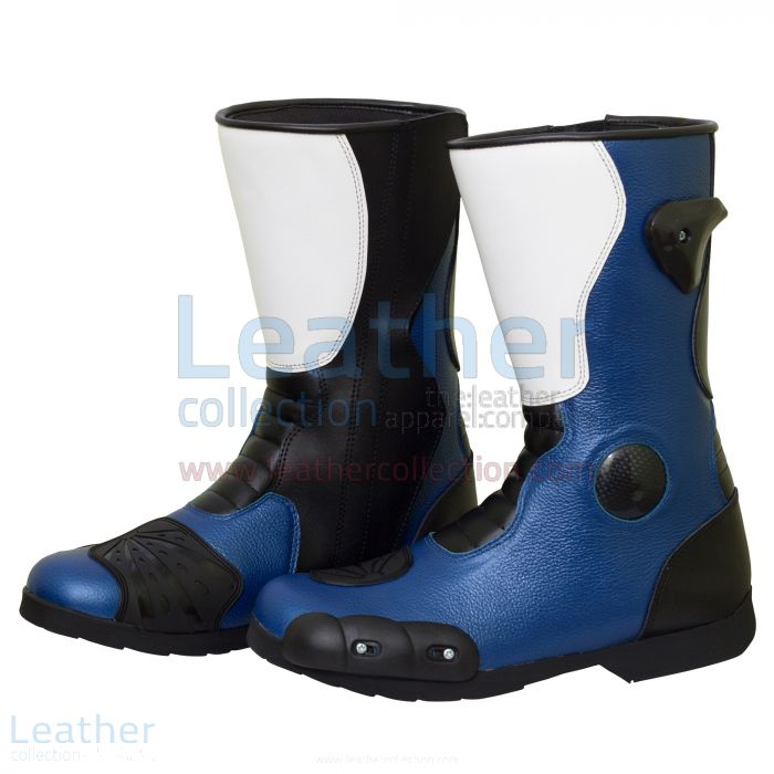 Leon Haslam Leather Biker Boots side view