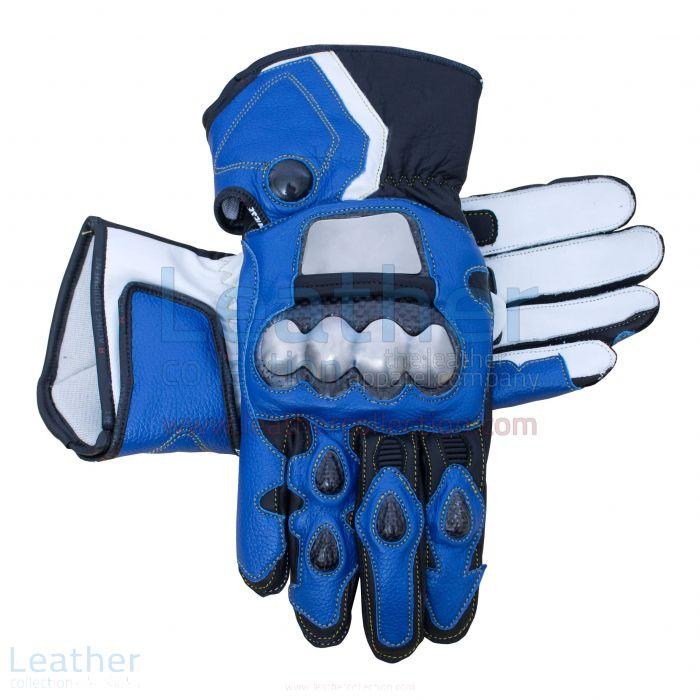 Leon Haslam Motorbike Riding Leather Gloves