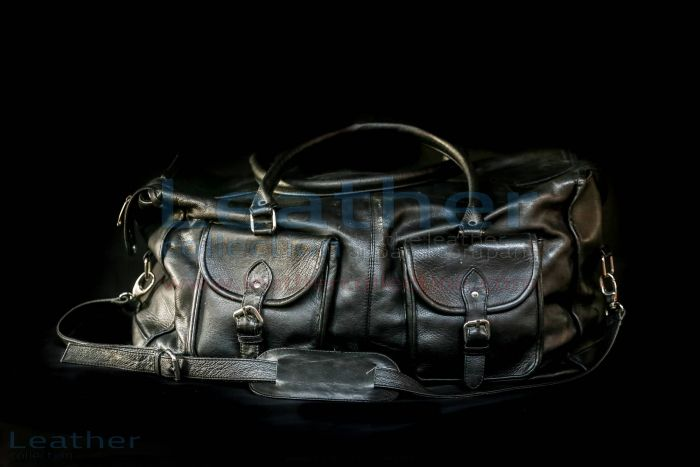 London Leather Bag front with strap