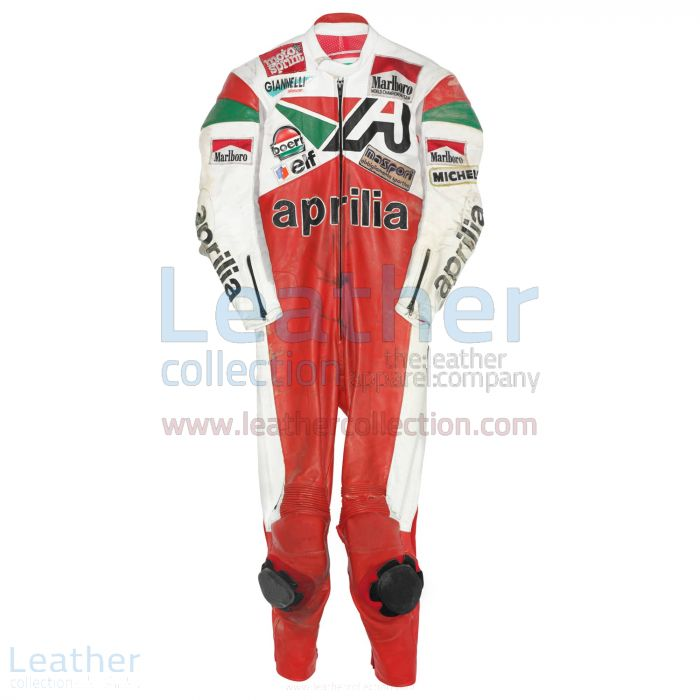 Loris Reggiani Aprilia GP 1987 Leather Suit front view