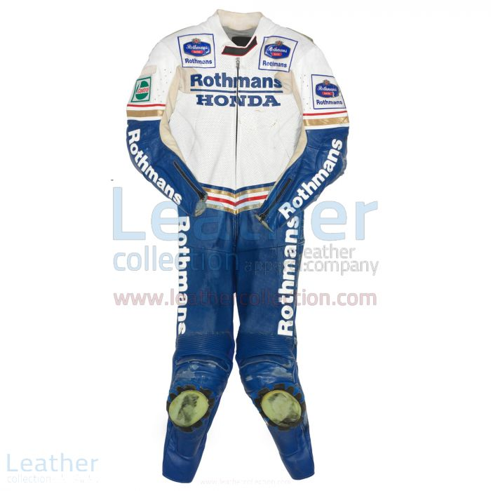 Luca Cadalora Rothmans Honda GP 1991 Leather Suit front view