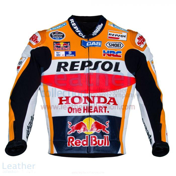 Marc Marquez Honda Repsol MotoGP 2016 Leather Jacket front