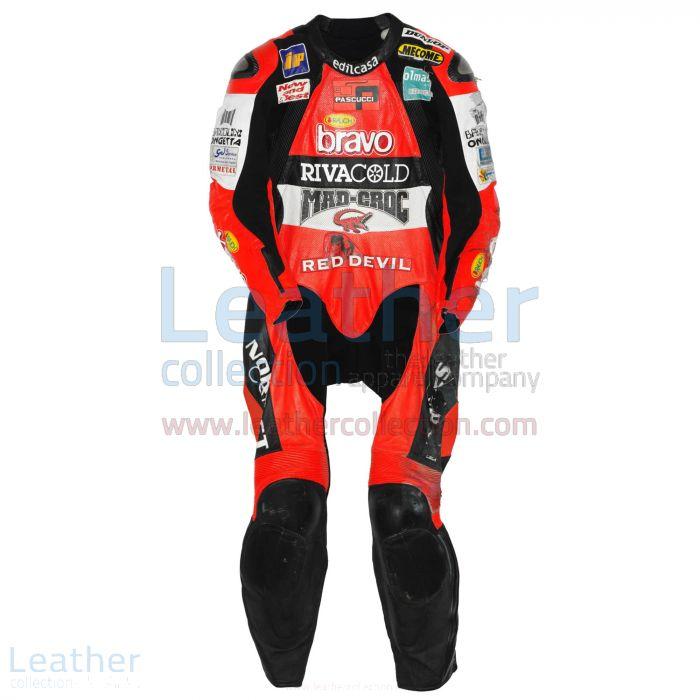 Marco Simoncelli Aprilia GP 2004 Leathers front view