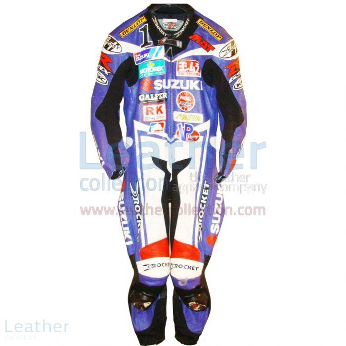 Mat Mladin Suzuki AMA 2005 Leather Suit front view