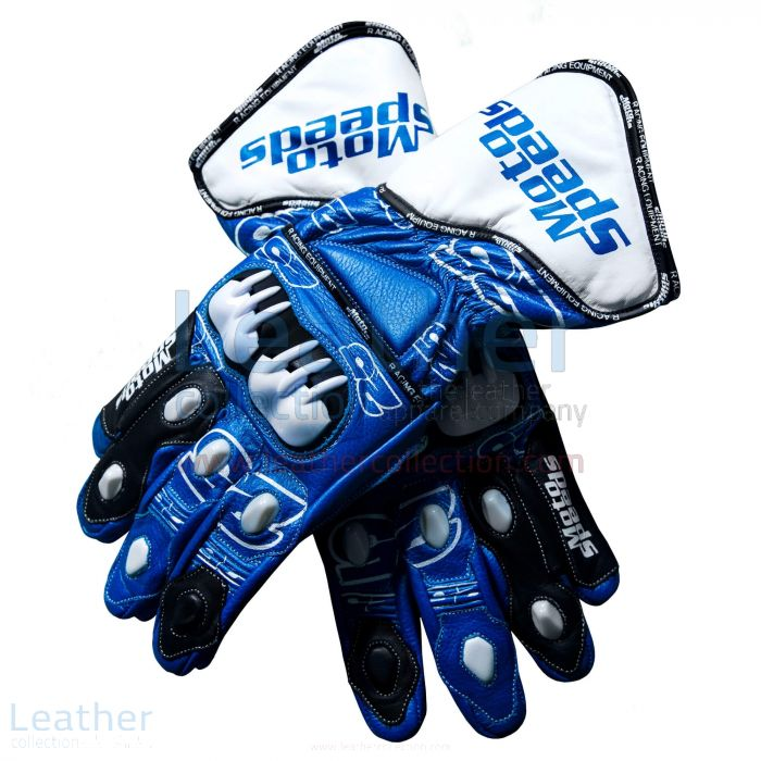 Maverick Vinales MotoGP 2015 Suzuki Gloves upper view