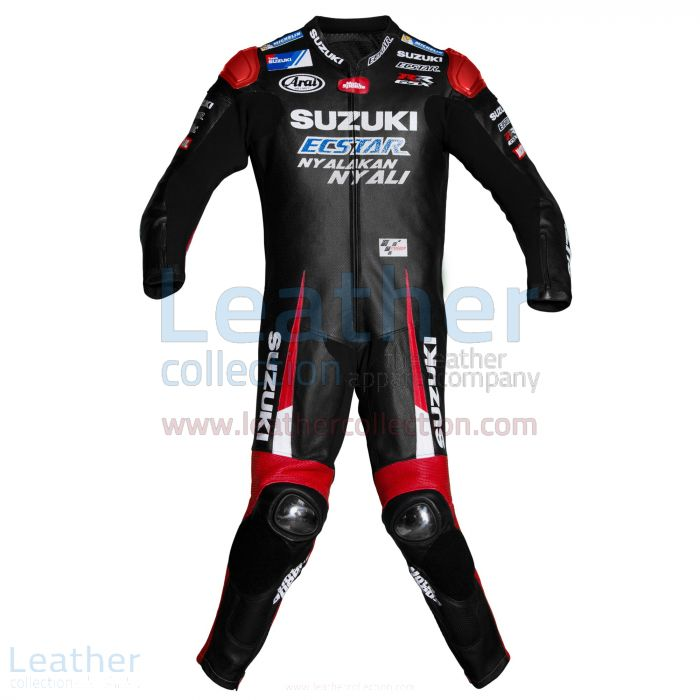 Maverick Vinales Suzuki MotoGP 2016 Leather Suit front view