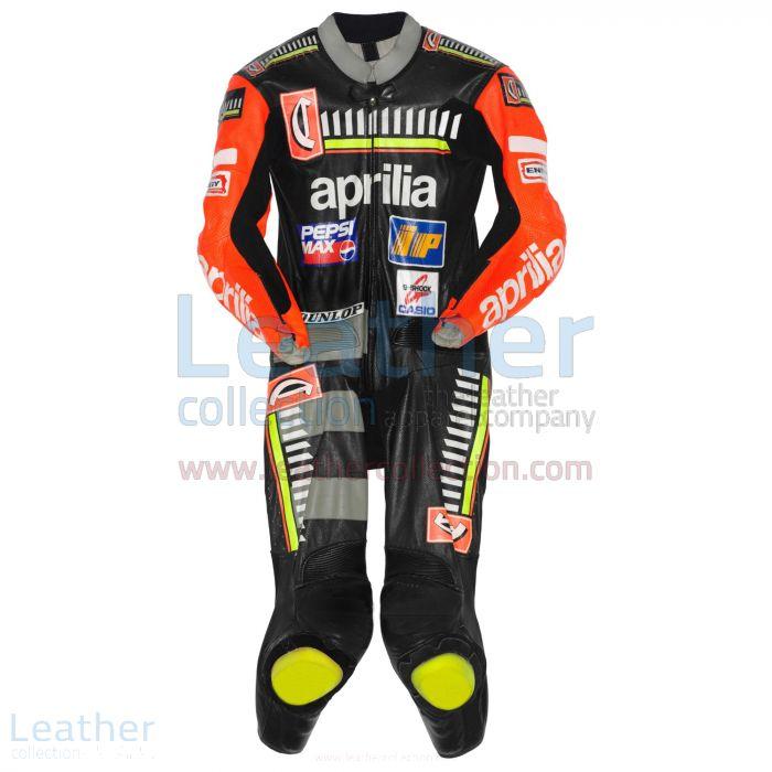 Max Biaggi Aprilia GP 1996 Leathers front