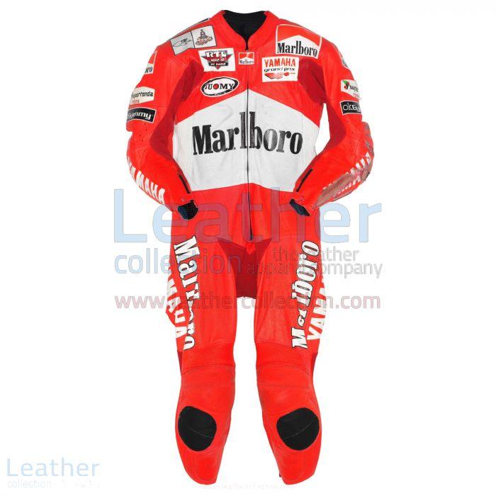 Max Biaggi Marlboro Yamaha GP 2001 Leathers front