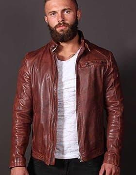 Veste Cuir Mode Homme
