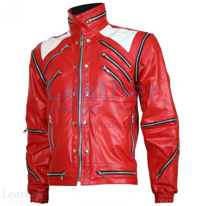 Michael Jackson Beat It Leather Jacket front view